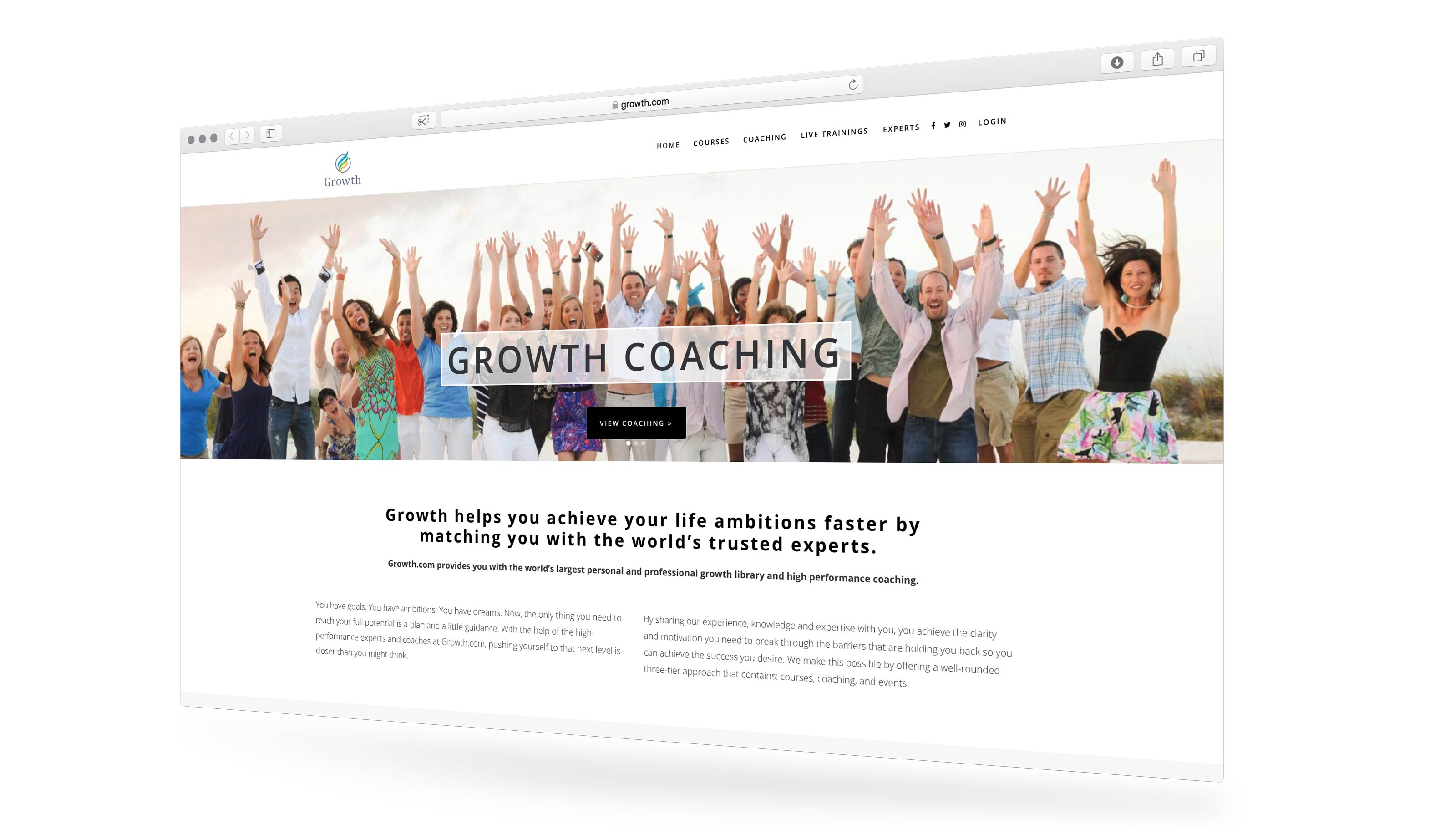 Growth.com Website Design